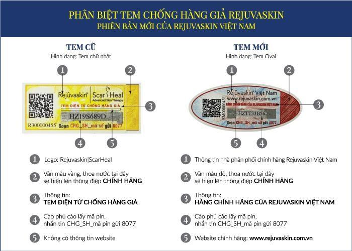 Tại sao Rejuvaskin Việt Nam thay đổi tem chống hàng giả?