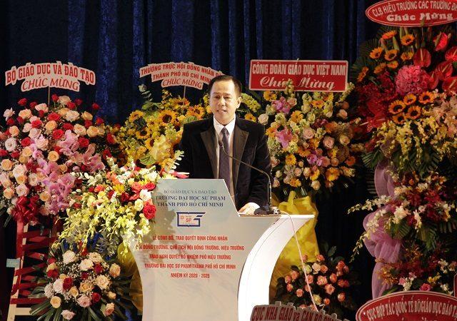 Bài phát biểu ấn tượng của Hiệu trưởng Đại học Sư phạm TPHCM GS.TS. Huỳnh Văn Sơn