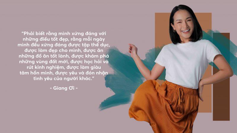 """Cùng Giang Ơi """"Mạnh dạn yêu bản thân"""" nào!"""