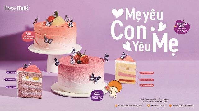 """Bộ sưu tập bánh kem """"Con Yêu Mẹ"""" được BreadTalk tung ra nhân Mother's Day 2021"""