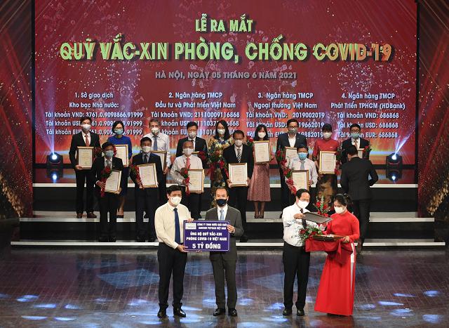 Suntory PepsiCo Việt Nam đóng góp 5 tỷ đồng vào Quỹ Vắc-xin phòng Covid-19 Việt Nam